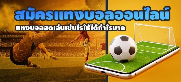 วิธี แทงบอลผ่านเว็บ ง่ายด้วยระบบภาษาไทยทั้งหมด แจกโปรมาก